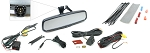 Rostra Wedge Mount Backup Camera & Manual Dim Rear View Mirror w/2-Input 4.3
